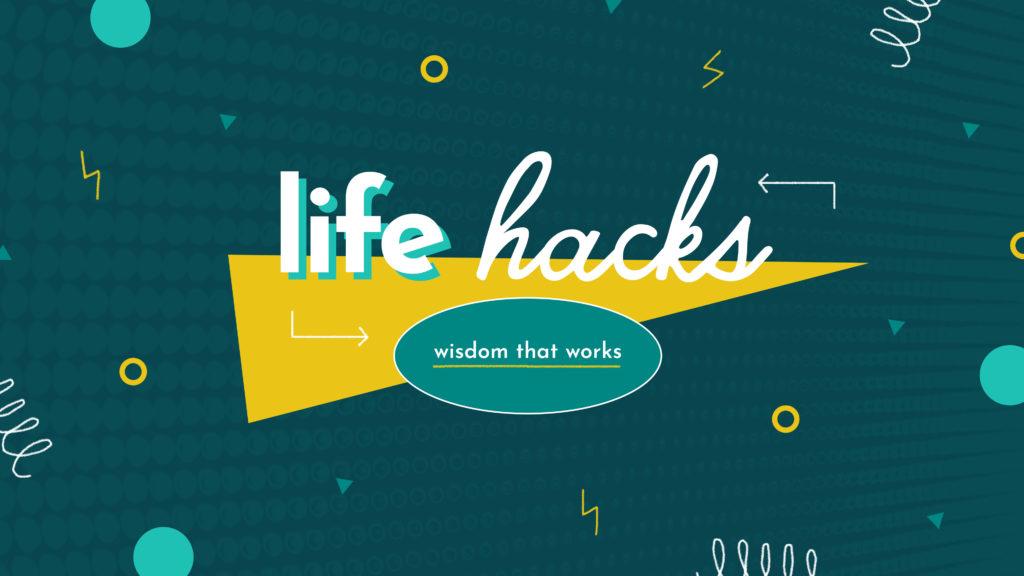 Life Hacks Wisdom That Works Teal Geometric - Subtitle